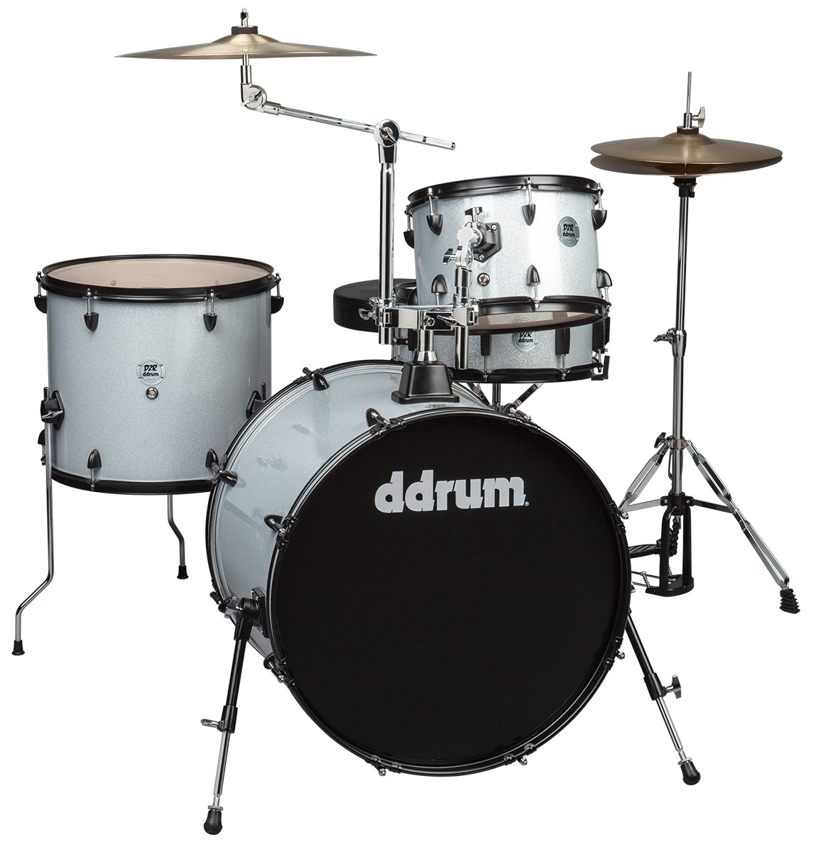DDRUM D2 Rock Kit Silver Sparkle w/ Cymbals & Hardware