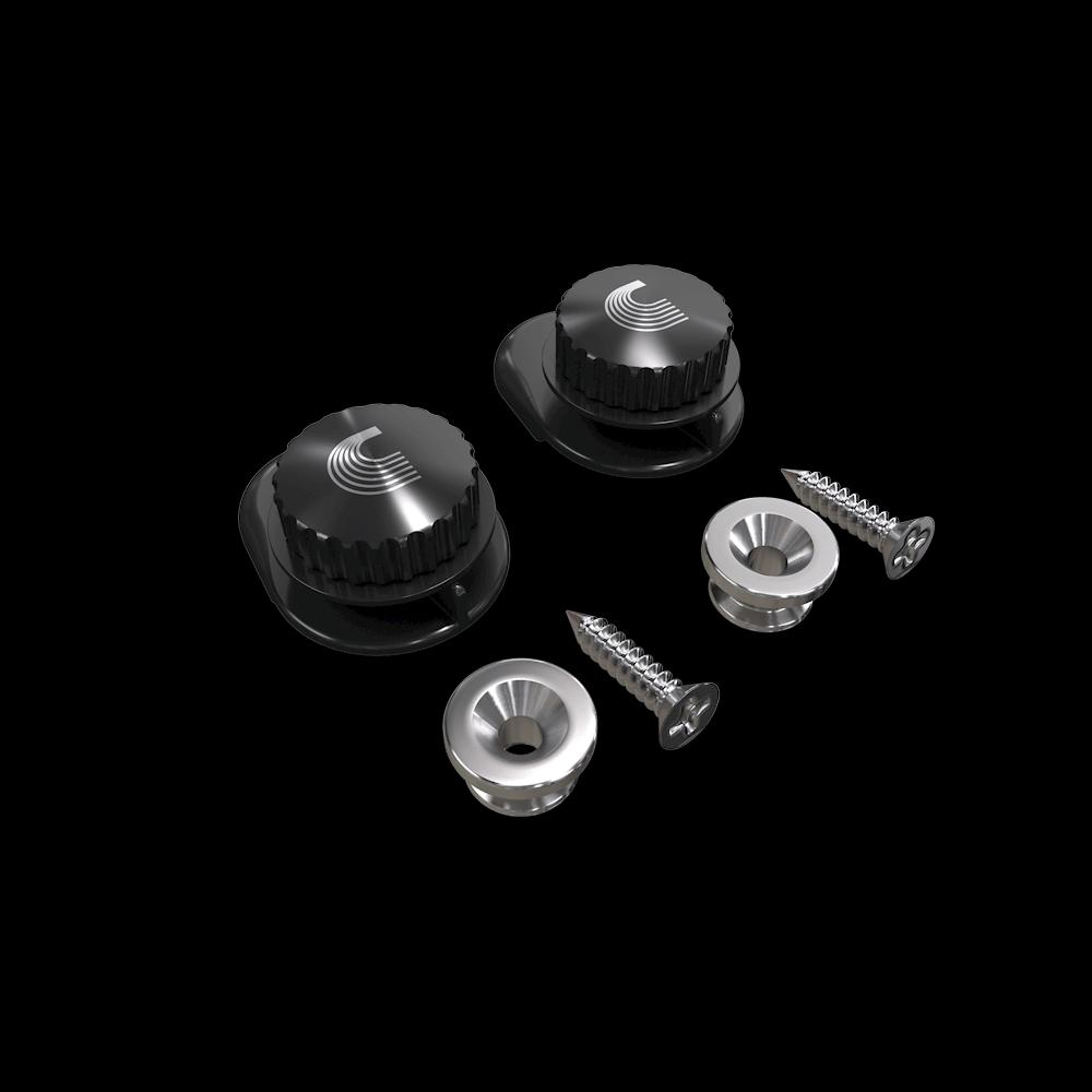 D'Addario Universal Strap Buttons - Nickel