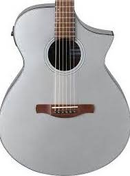 Ibanez AEWC10SM Acoustic Electric Guitar - Silver High Gloss