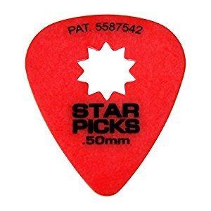 Star Picks .50mm Guitar Picks 12 Pack - Red