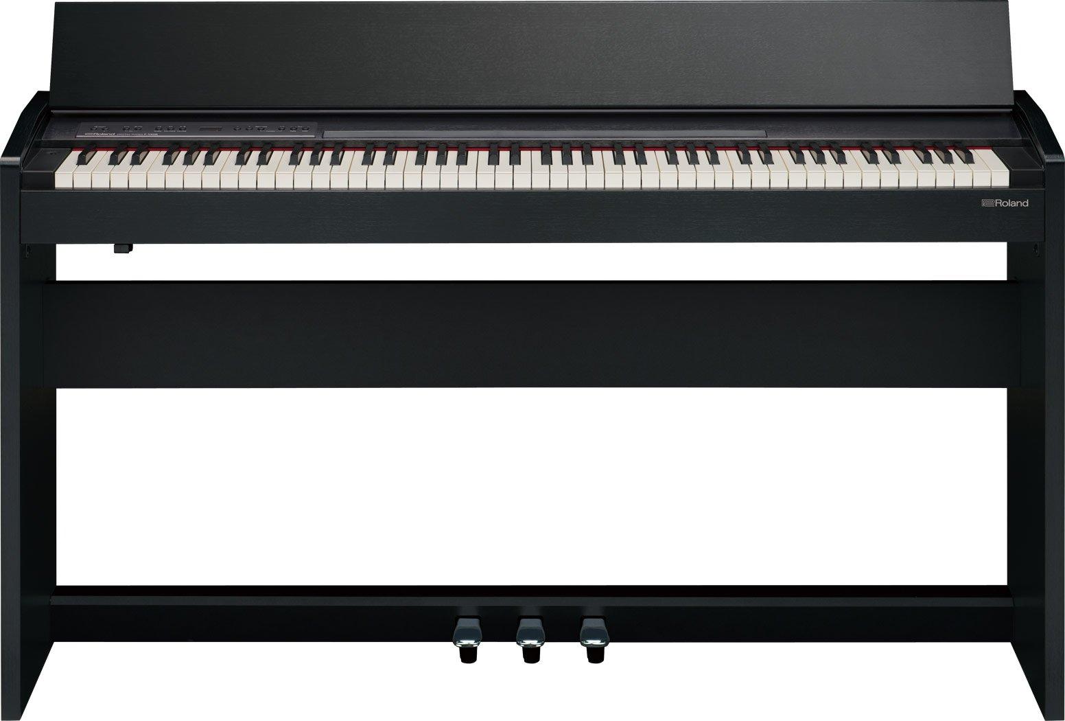 Roland F-140R-CB SuperNATURAL Piano w/ Stand - Contemporary Black