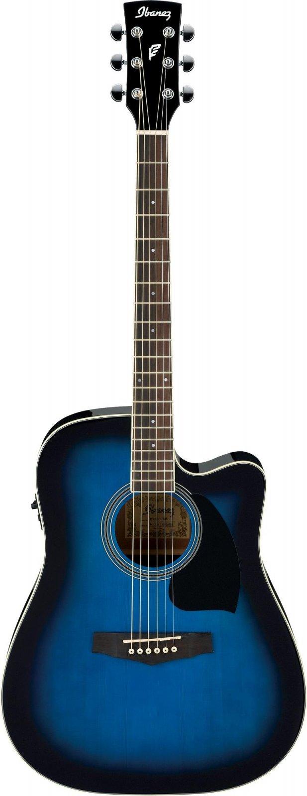 Ibanez Preformance Series PF15ECE-TBS Acoustic-Electric Guitar-Transparent Blue Sunburst