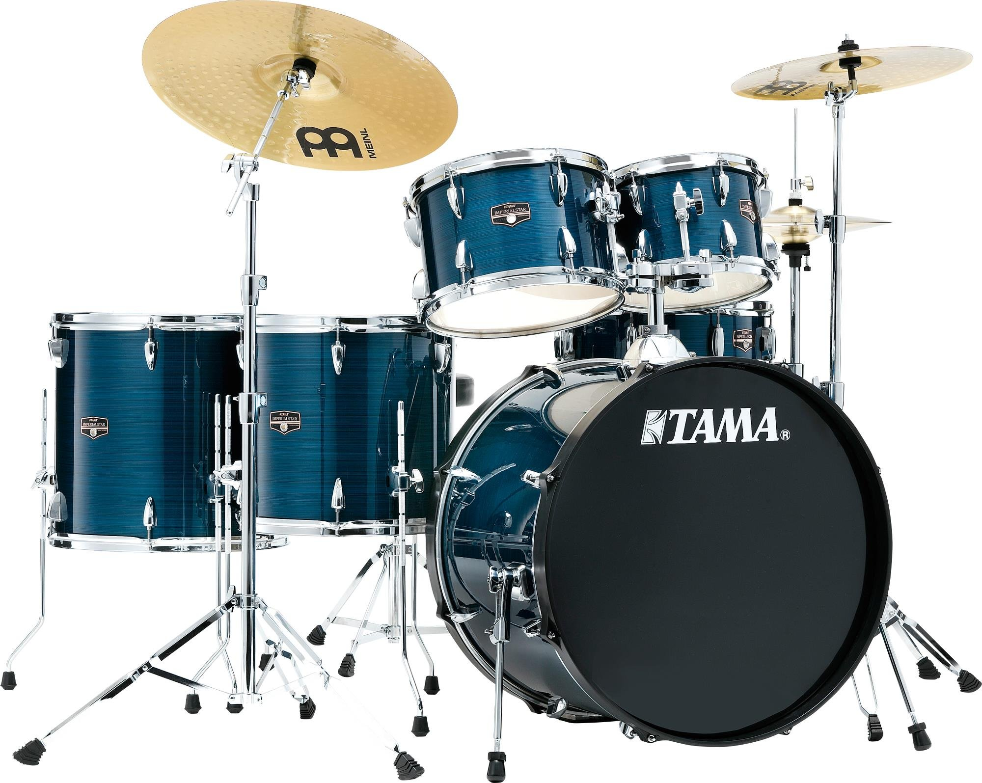 TAMA Imperialstar 6-Piece Complete Kit with Meinl HCS cymbals Hairline Blue