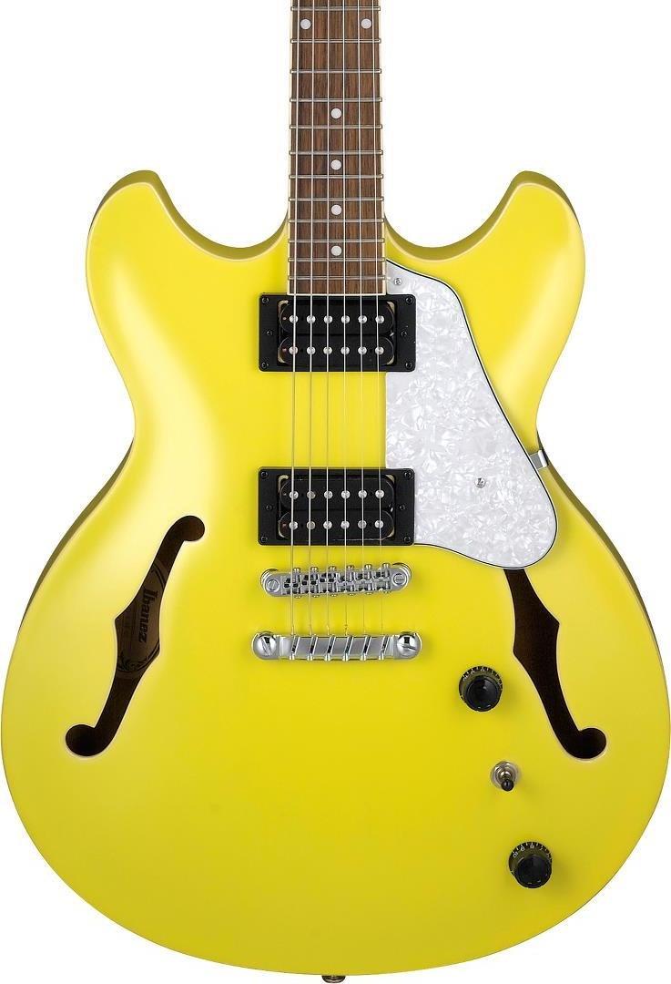 Ibanez AS63LMY AS Artcore Vibrante 6str Hollow Body Electric Guitar - Lemon Yellow