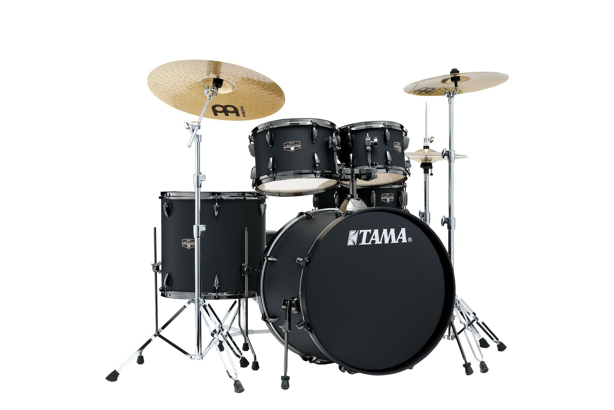 TAMA IE52CBBOB Imperialstar 5-Piece Complete Drum Kit- Blacked Out Black