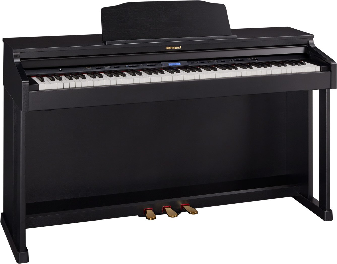 Roland HP-601-CBC SuperNATURAL Piano w/ stand & bench (contempory black)