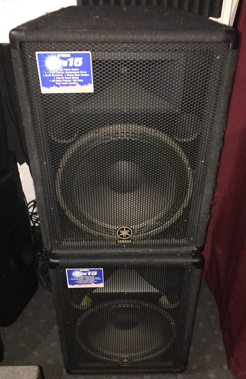 USED Yamaha BR15-PAIR 15 2 Way PA Speakers