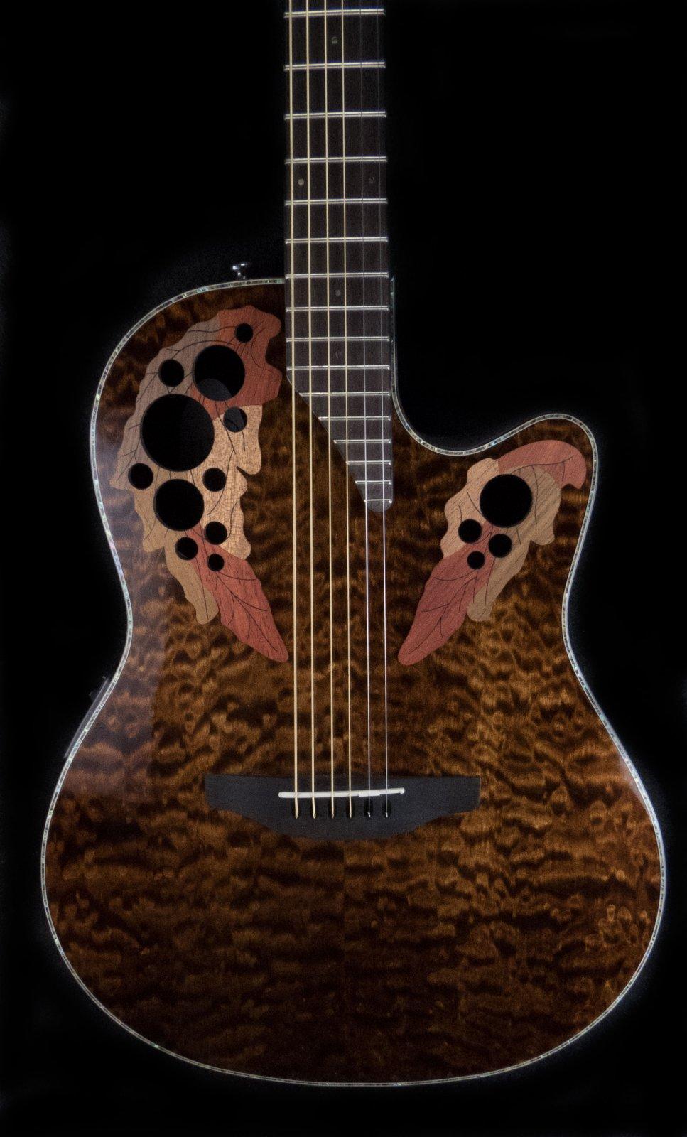 Ovation Celebrity Elite CE44P-TGE Acoustic Electric Guitar w/Hardshell Case