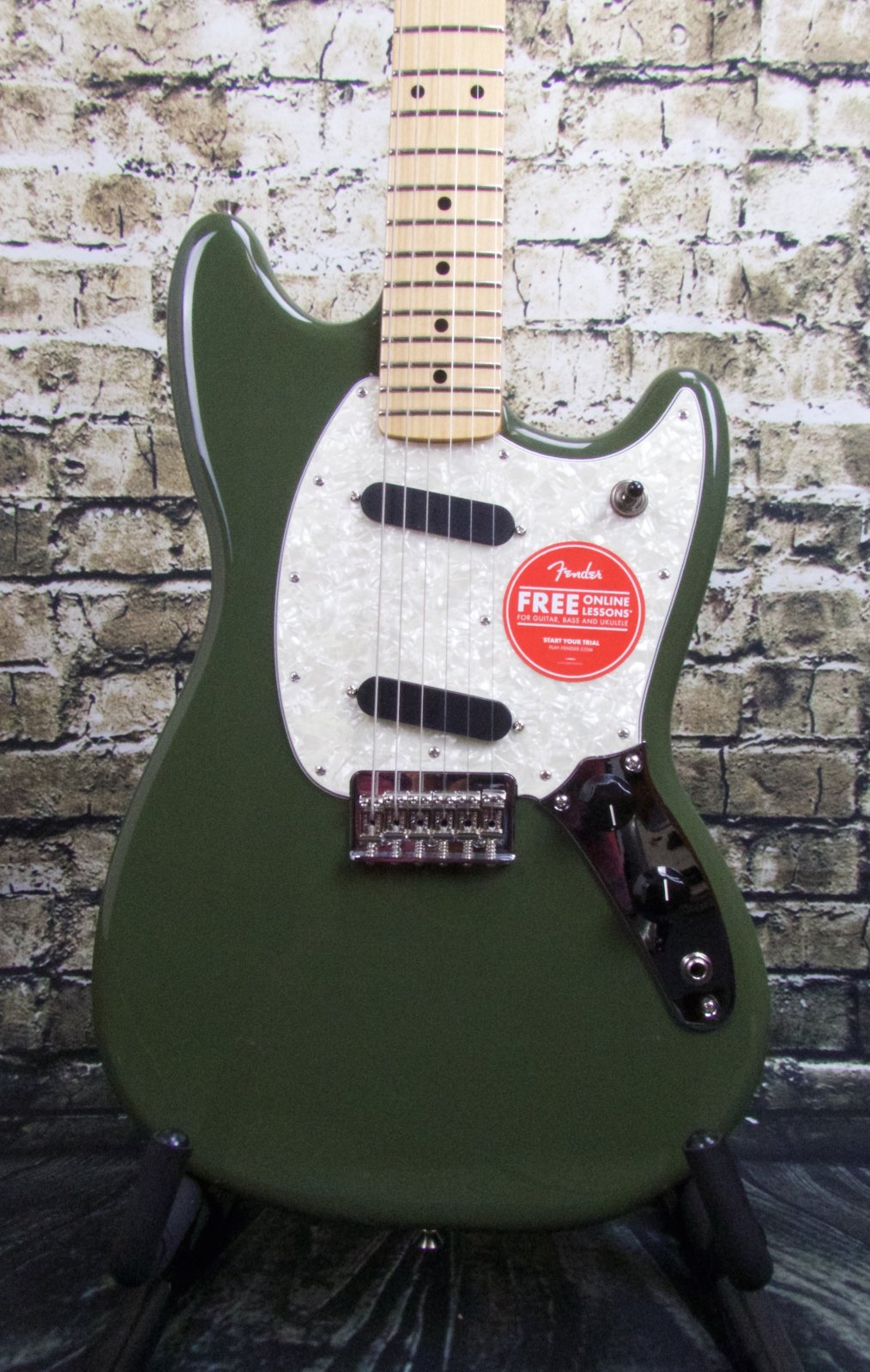Fender Mustang Maple Fingerboard - Olive