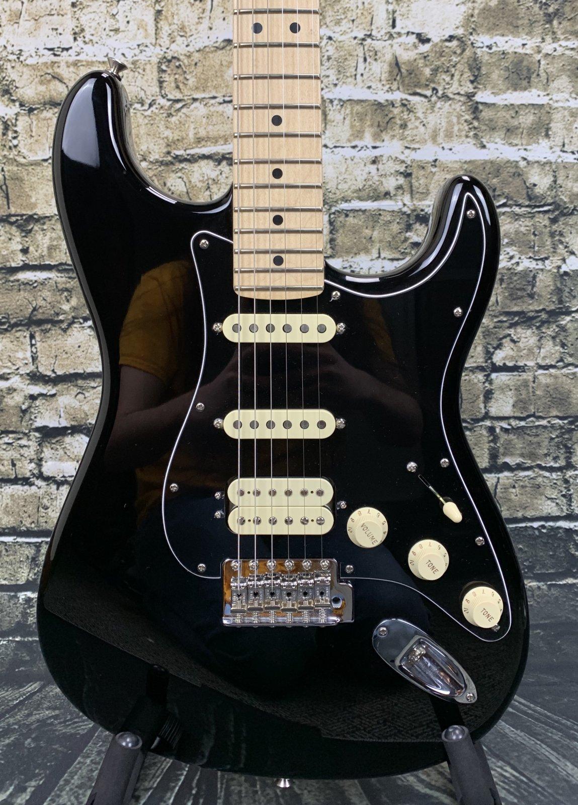 Used Fender American Performer Stratocaster HSS - Black w/ Hardshell Case