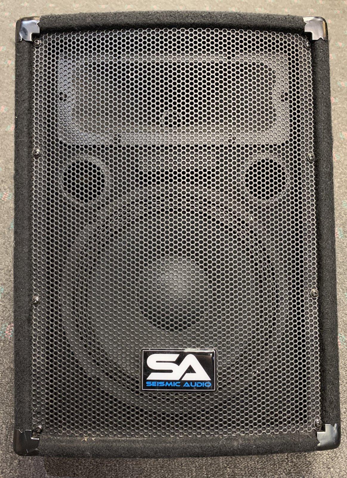 Used Seismic Audio SA-10M 10 Wedge Floor Stage Monitor or Speaker