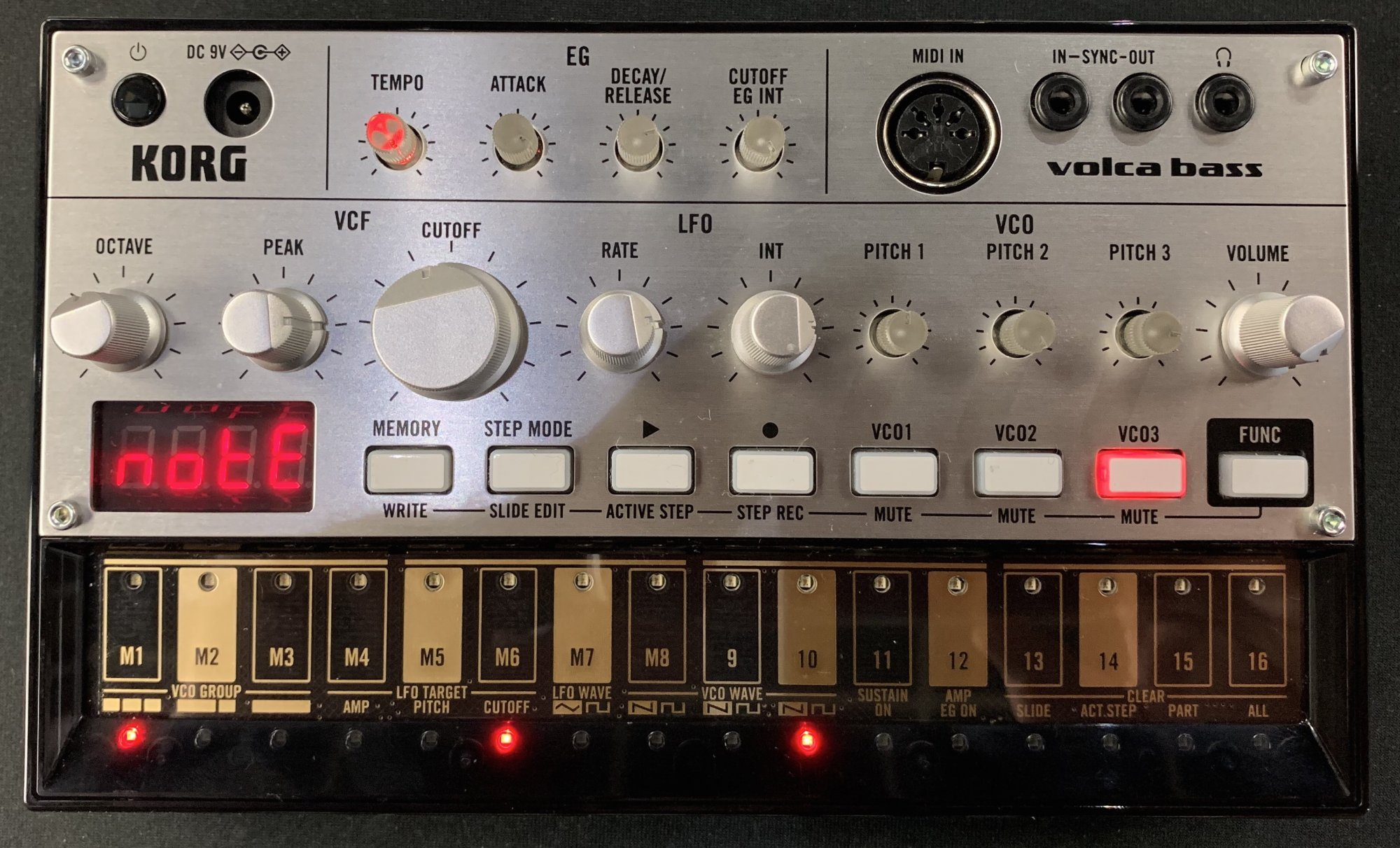 Used Korg Volca Bass Analog Bass Synth