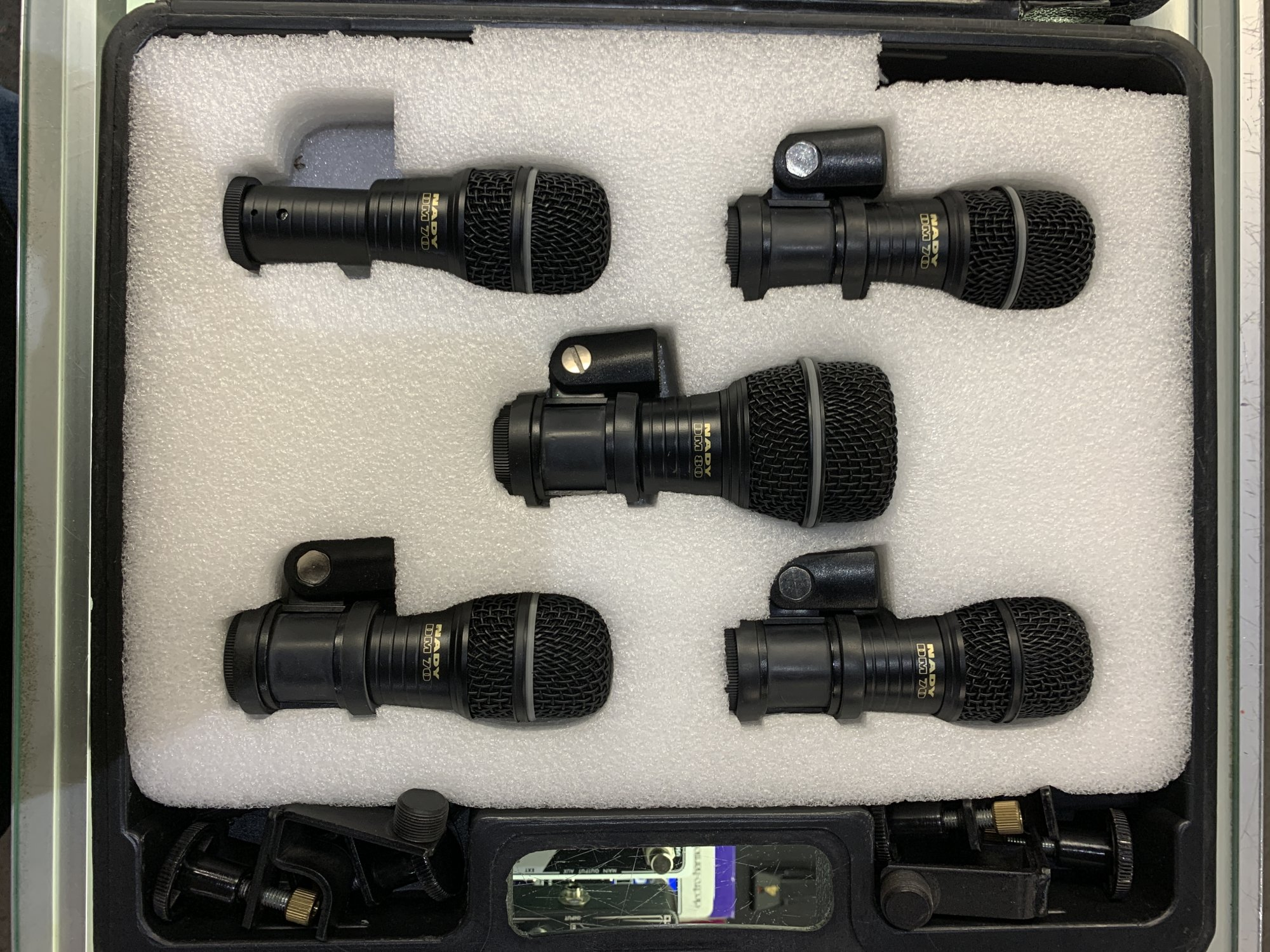 Used Nady Five Piece Drum Microphone Kit