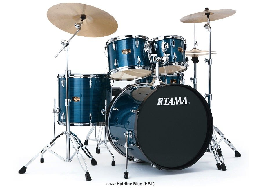 Tama Imperialstar 5-Peice Drum Set w/Cymbals -Hairline Blue