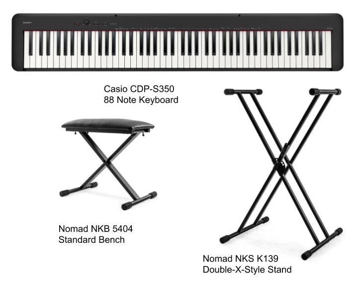 Casio CDP-S350 Stage Piano Package with Bench and Stand