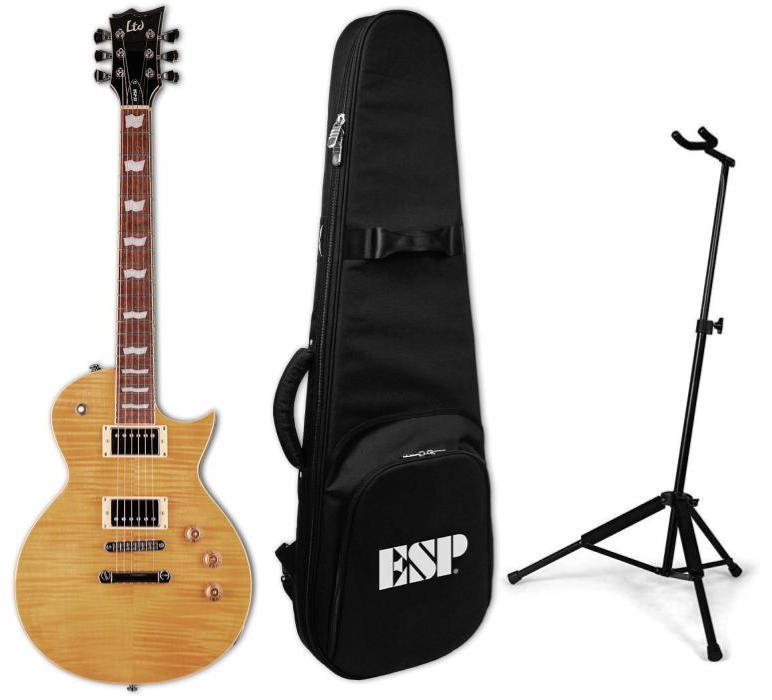 LTD EC-256VN Eclipse Electric Guitar - Vintage Natural Package with Guitar, Padded Gig Bag, and Guitar Stand