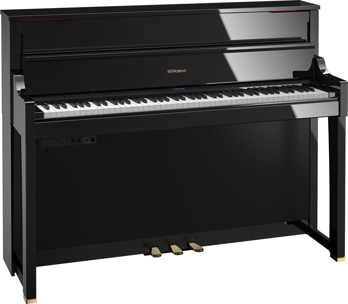 Roland LX-17-PEC SuperNATURAL Modeling Piano w/ stand & bench (polished ebony)
