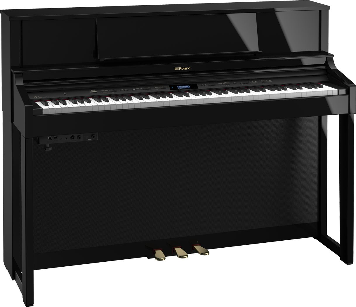 Roland LX-7-PEC SuperNATURAL Modeling Piano w/ stand & bench (polished ebony)