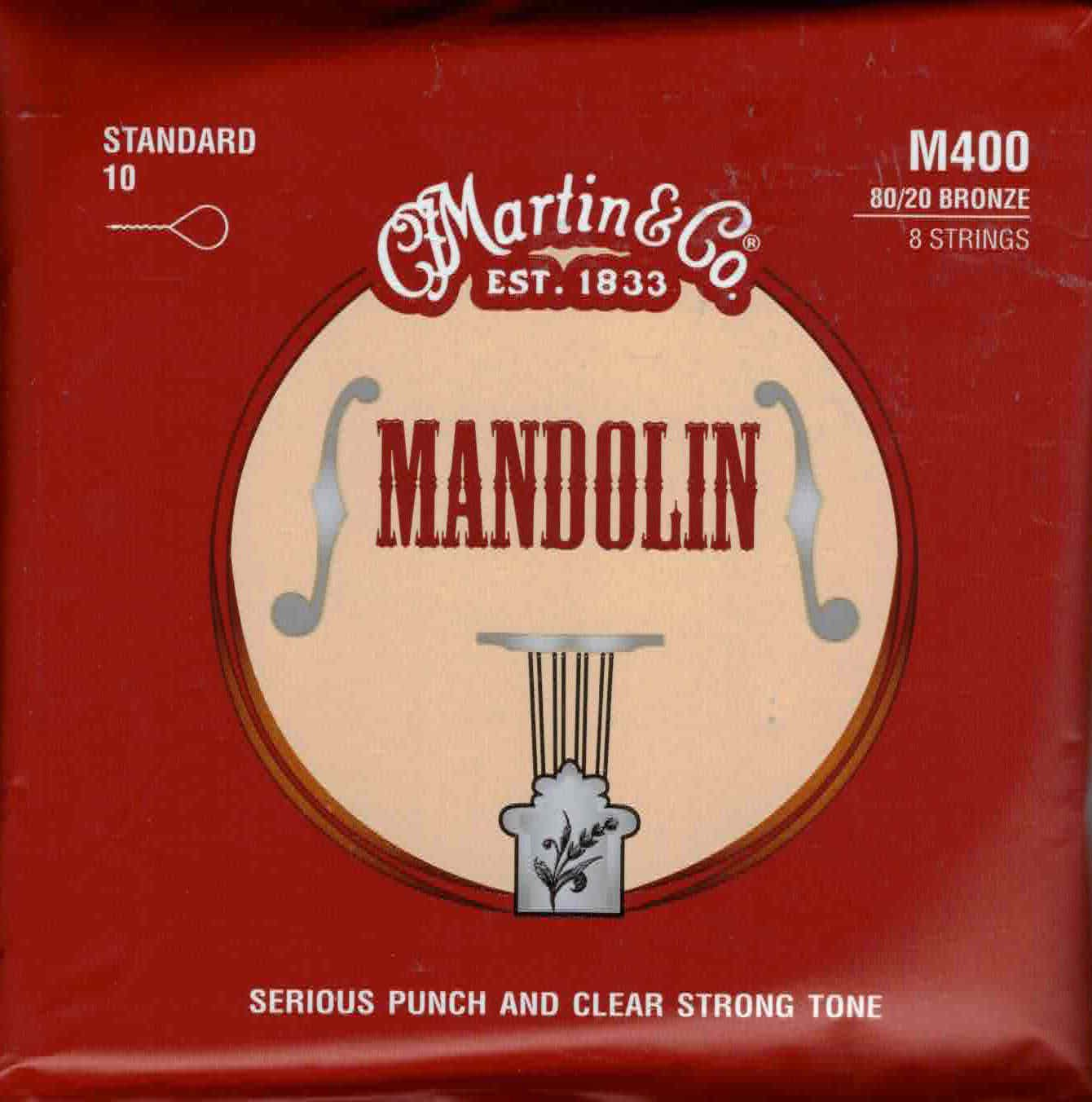 Martin M400 Loop End Mandolin Strings - Standard 10