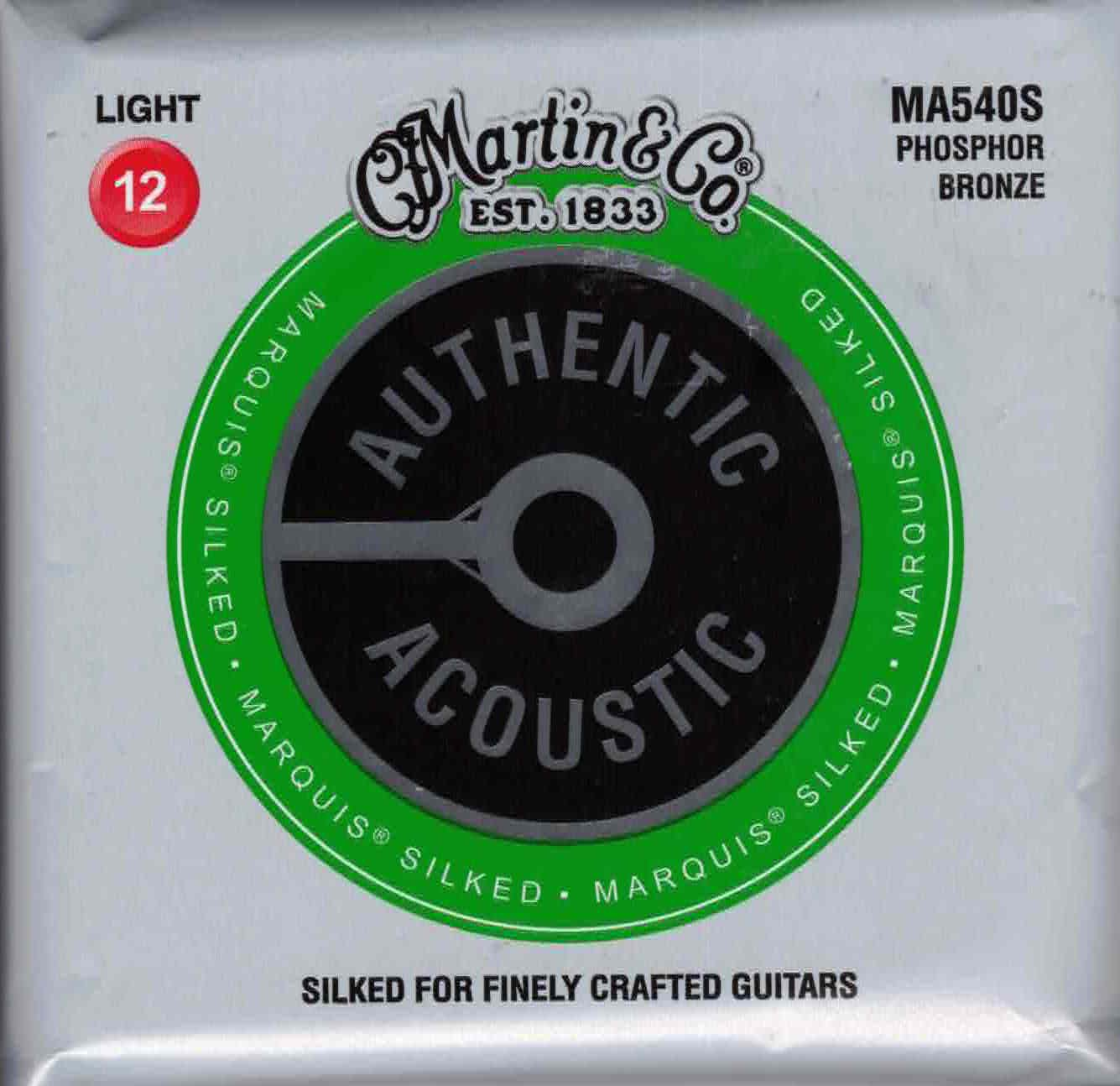Martin MA540S Light Phosphor Bronze Acoustic Guitar Strings