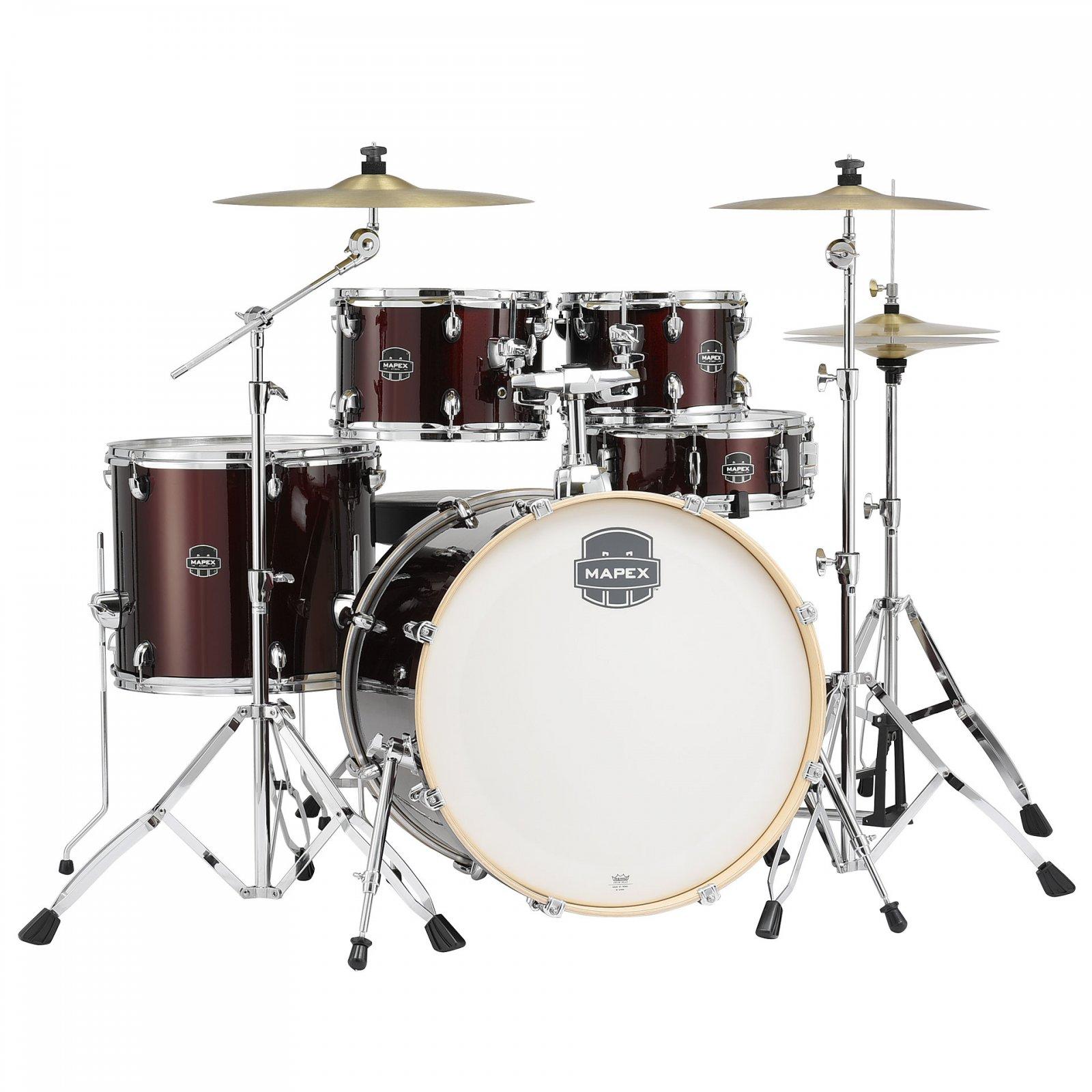 Mapex Storm Rock 5-Piece Drum Set w/ Hardware and Cymbals - Dark Red