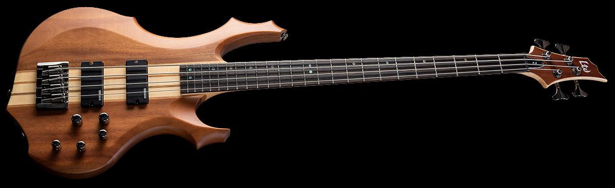 LTD F-4E Mahogany 4-String Electric Bass - Natural Stain