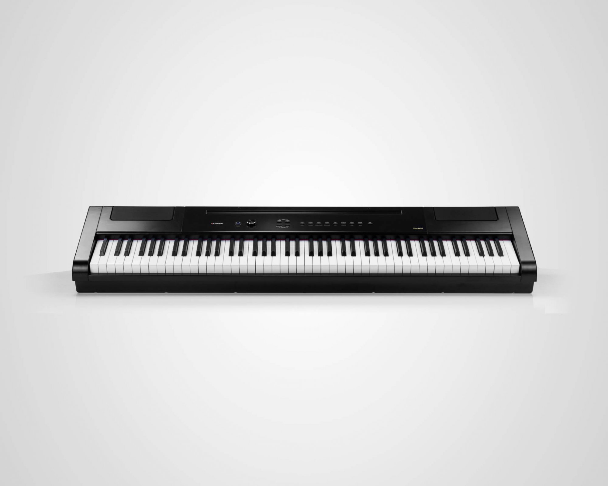 Artesia Pro PA-88H+ Hammer Action 88 Key Portable Keyboard - Black w/ ST-2 Furniture Stand