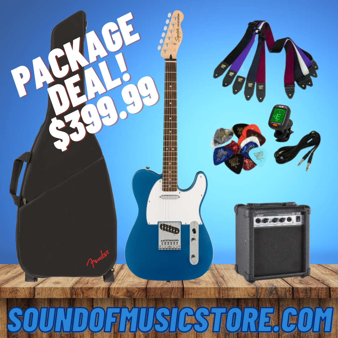 Fender Squier Affinity Series Telecaster - Lake Placid Blue Package Deal With Guitar, Amp, Cable, Tuner, Strap, and Picks