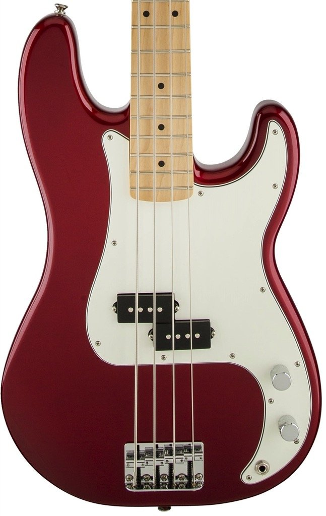 Fender Standard Precision Bass, Maple Fingerboard - Candy Apple Red