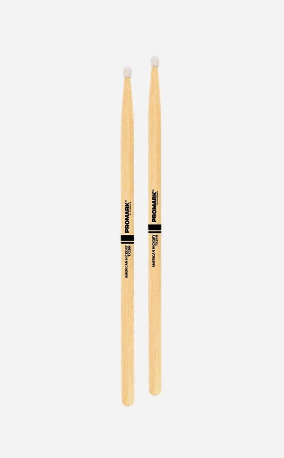 Promark TX2BN Classic 2B Hickory Nylon Tip Drumstick