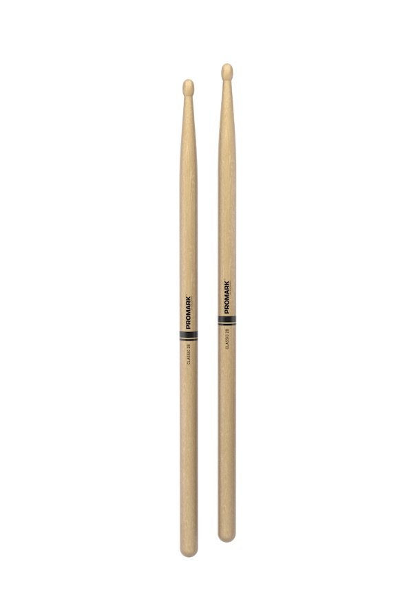 Promark TX2BW Classic 2B Hickory Wood Tip Drumstick