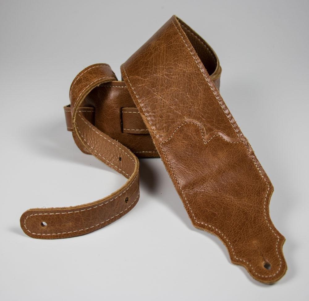Franklin 3 Cognac Strap Jackson Hole Leather w/ Contrast Stitching