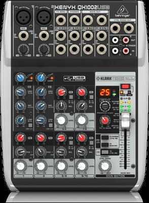 Behringer XENYX QX1002USB Premium 10-Input 2-Bus Mixer & USB/Audio Interface