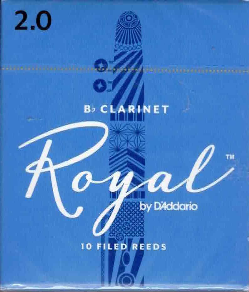 Rico Royal Bb Clarinet Reeds Box of 10(2 Strength)