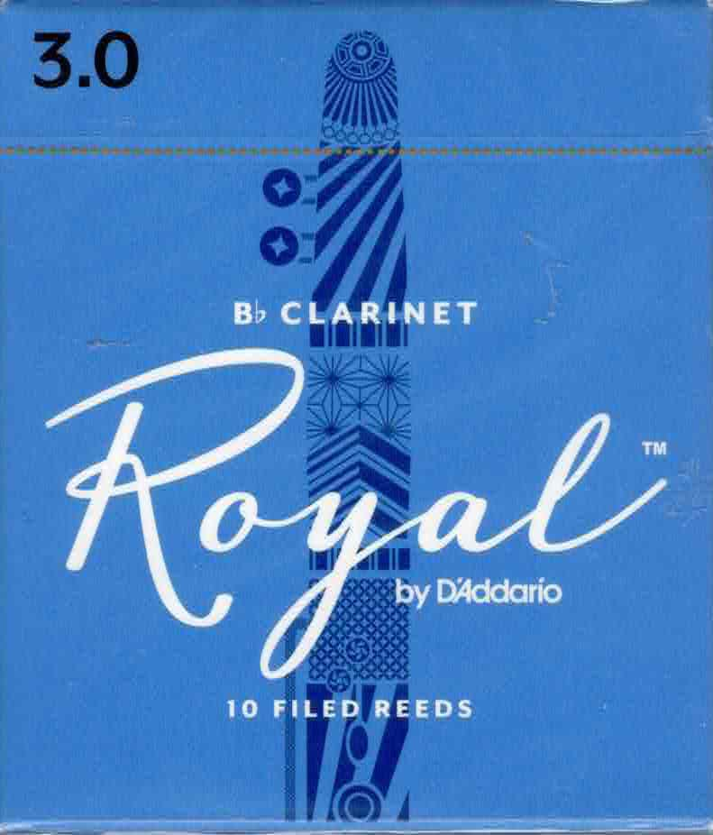 Rico Royal Bb Clarinet Reeds Box of 10(3 Strength)