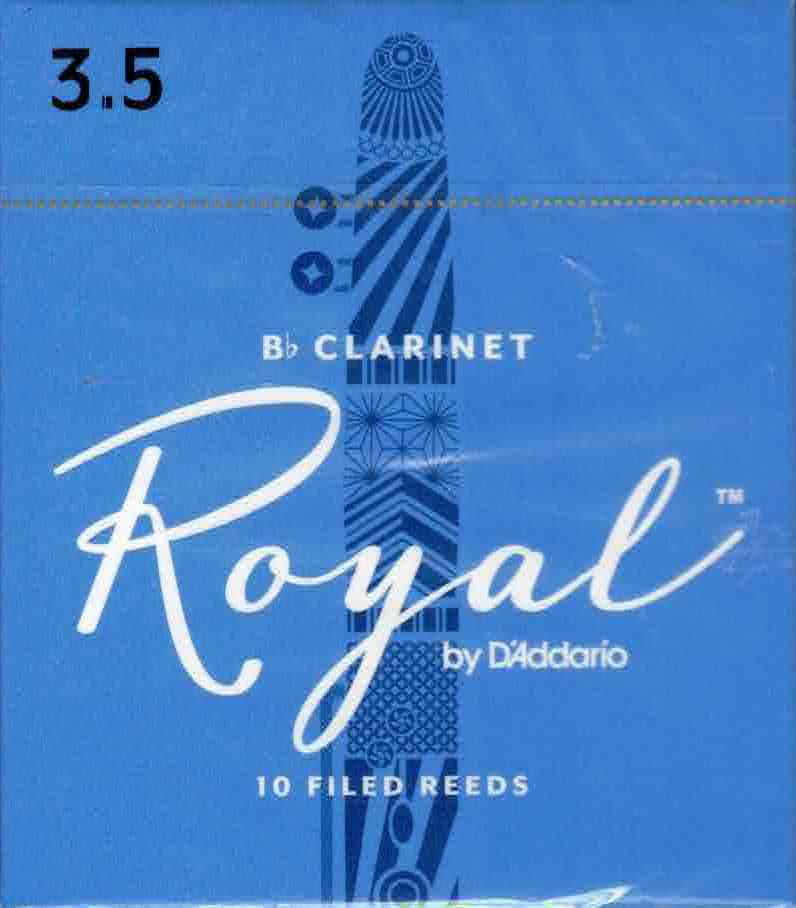 Rico Royal Bb Clarinet Reeds Box of 10(3.5 Strength)
