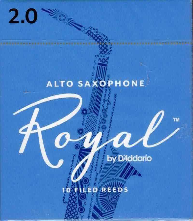 Rico Royal Alto Sax Reeds Box of 10(2 Strength)