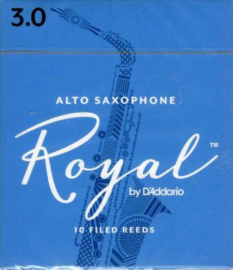 Rico Royal Alto Sax Reeds Box of 10(3 Strength)