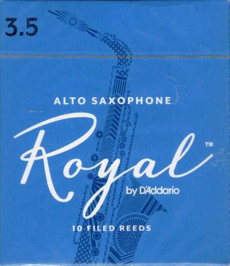 Rico Royal Alto Sax Reeds Box of 10 (3.5 Strength)