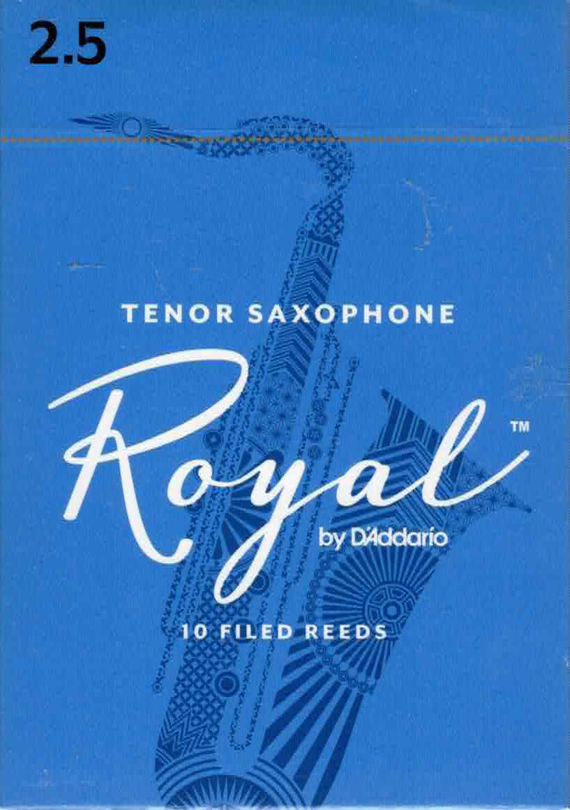 Rico Royal Tenor Sax Reeds Box Of 10(Strength 2.5)