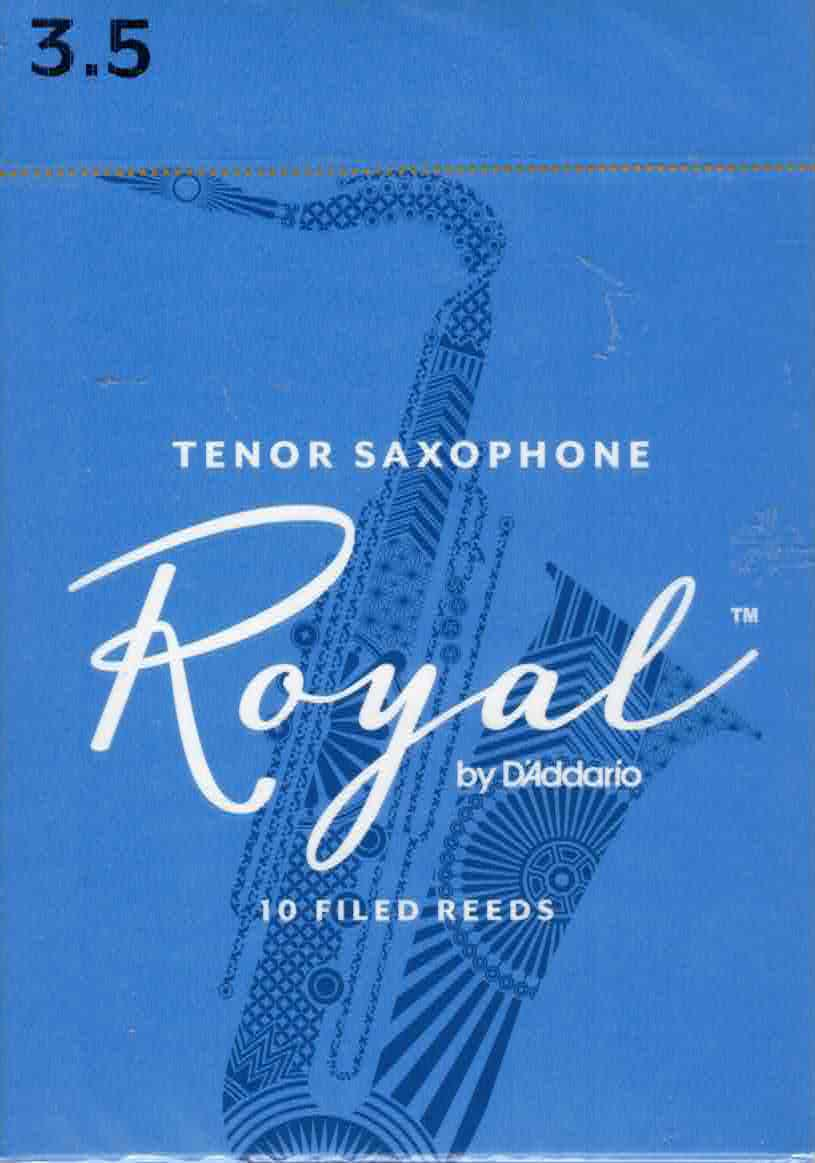 Rico Royal Tenor Sax Reeds Box Of 10(Strength 3.5)