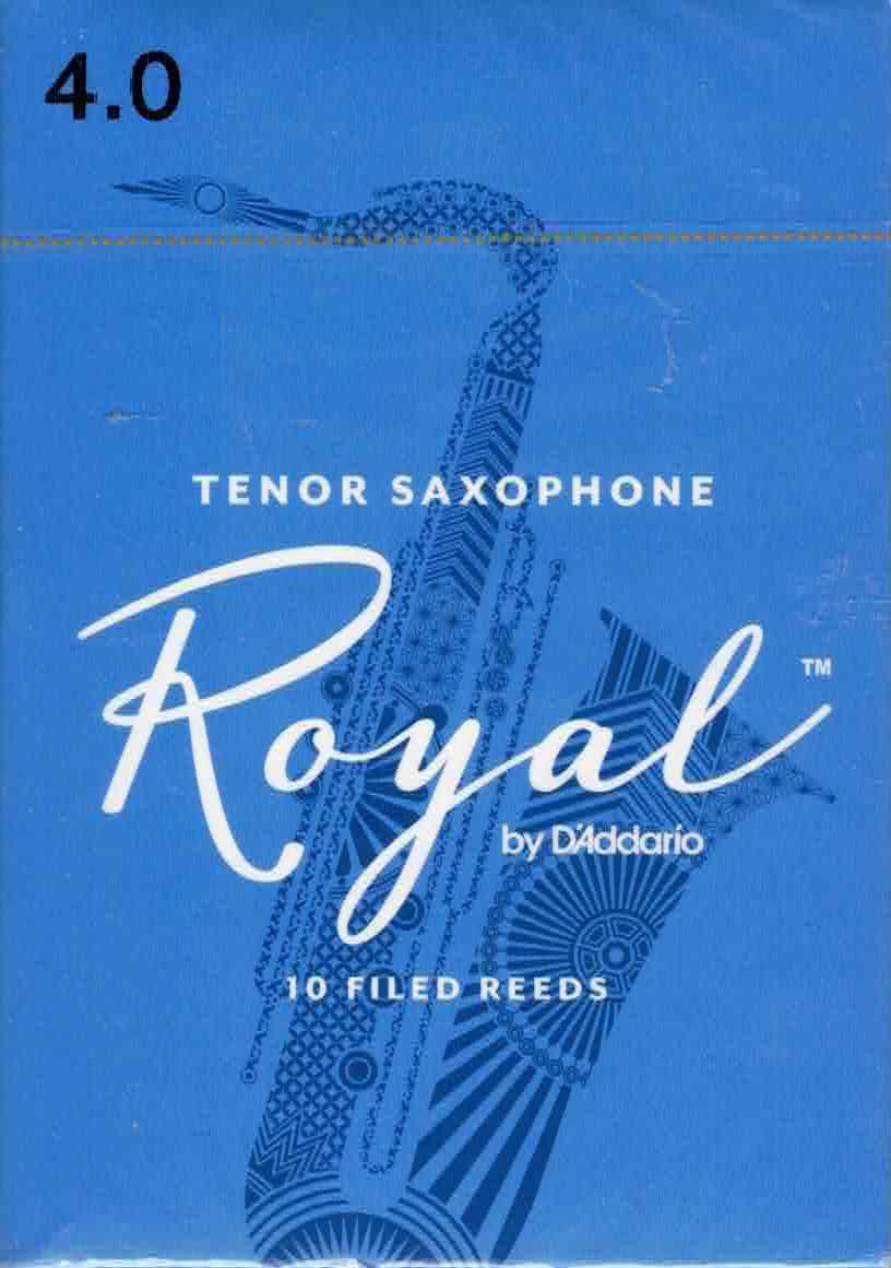 Rico Royal Tenor Sax Reeds Box Of 10(Strength 4)