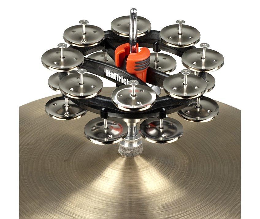 Rhythm Tech RT7422 Hat Trick Double Row Hi-Hat Tambourine-Nickel