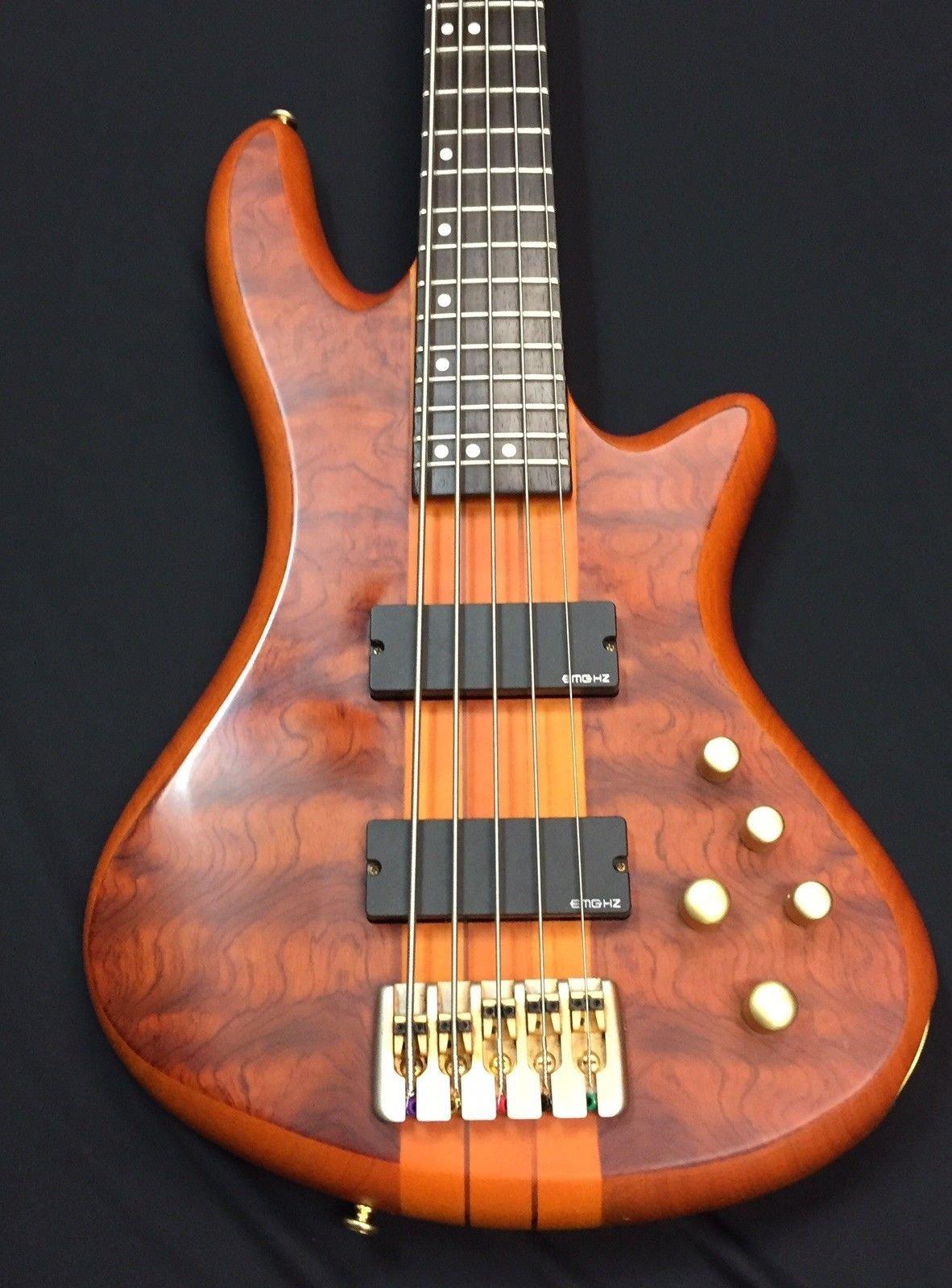 Used Schecter Daimond Sereis Stilleto Studio 5 Bass - Honey Satin
