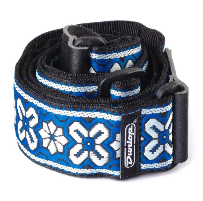 Dunlop D6703BL Jacquard Strap - Avalon Blue