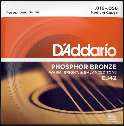 D'Addario EJ42 Resophonic Guitar Strings 16-56