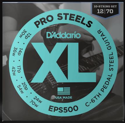 D'Addario Pro Steels EPS500 C-6th Pedal Steel Strings