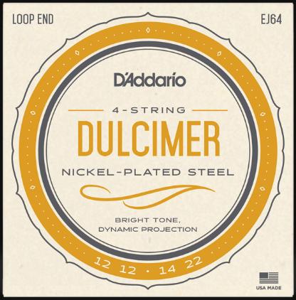 D'Addario EJ64 Nickel Wound Dulcimer Strings