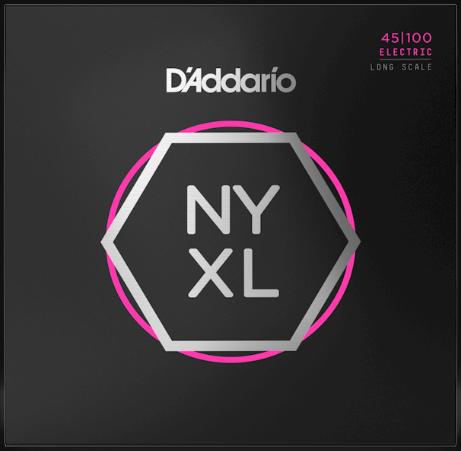 D'Addario NYXL45100 Long Scale 4-String Bass Strings