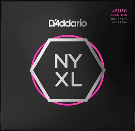 D'Addario NYXL45130 Long Scale 5-String Bass Strings